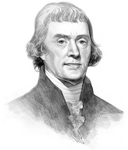 Thomas Jefferson Black and White